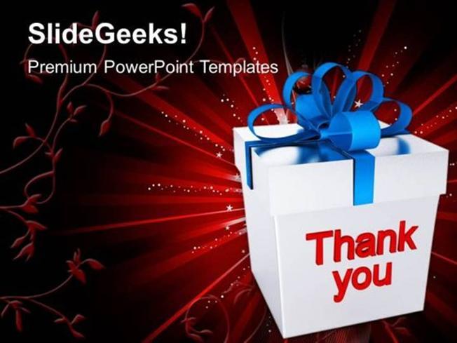 Business Thank You Gift Box Decorative Event Ppt Template Powerpoint