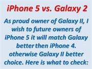 iPhone 5 vs GalaxyII Sumsung