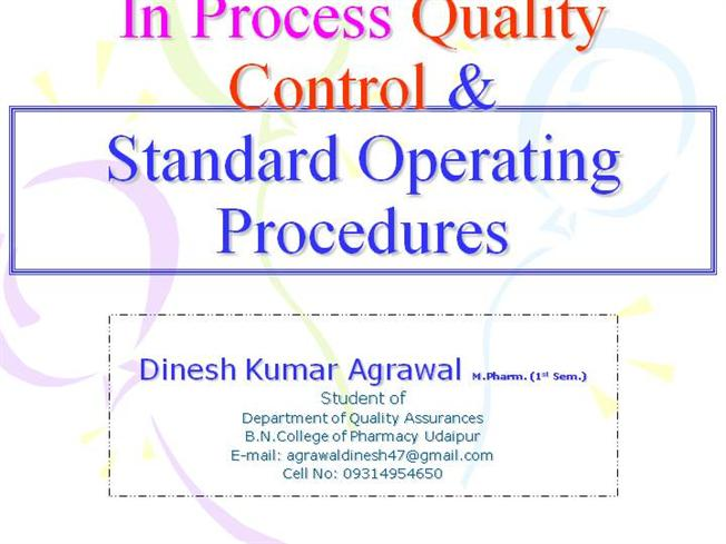 Standard Operating Procedures Authorstream