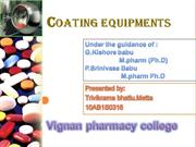coating equipments