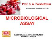 Microbiological  assay 2011-12