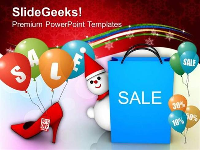 Christmas christmas sale discounts shopping ppt template powerpoint related powerpoint templates toneelgroepblik Image collections