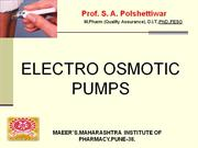 osmotic pump delivery system