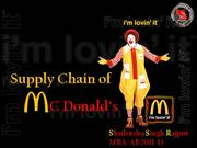 McDonalds Supply Chain INDIA