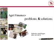 Agri-finance in India