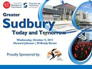 Greater Sudbury Today and Tomorrow