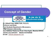 Concept of Gender : Prof. Vibhuti Patel