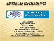 Gender and Climate Change : Prof. Vibhuti Patel