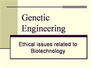 genetic engineering and ethical issues