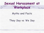 Sexual Harassment - Myths : Prof. Vibhuti Patel
