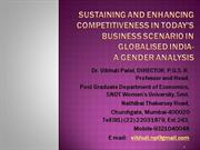 Sustaining Competitiveness: Prof. Vibhuti Patel