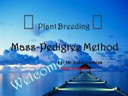 Mass-pedigree method by Ankit Gadhiya