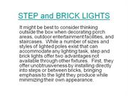 STEP and BRICK LIGHTS
