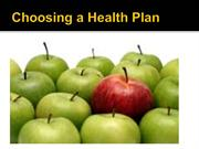 Choosing a Health Plan