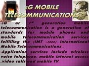 3G mobile telecommunications