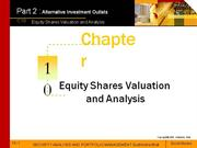 Equity Shares Valuation
