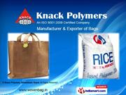 Hdpe Woven Bags By Knack Polymers, Ahmedabad, Gujrat Ahmedabad