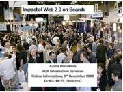 Impact of Web 2.0 on Search [Archive]