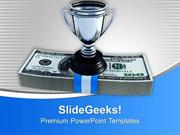 SPORTS CASH AND TROPHY WINNER COMPETITION PPT TEMPLATE