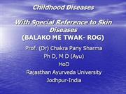 Childhood Diseases - Lecture for Ajmer