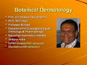 Botanical Dermatology