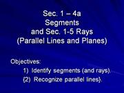 1.4A Segments and Rays
