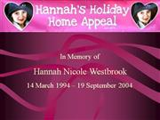 hannah's holiday home appeal