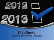 CONSULTING BLUE CHECKMARK ON NEW YEAR HOLIDAYS PPT TEMPLATE