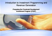 Investment Programming Guidelines