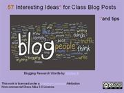 50 Interesting Ideas for Class Blog Posts