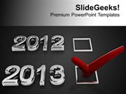 CONSULTING CHECKLIST WITH RED CHECK NEW YEAR CONCEPT PPT TEMPLATE