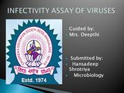infectivity assay of virus