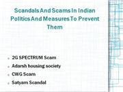 scandals and scams in indian politics