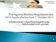 Agency Workers Regulations Act
