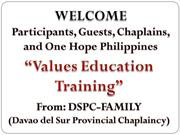 values education training ppt