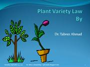 Plant Variety Law