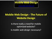 Mobile Web Design - The Future of Website