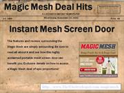 Magic Mesh - The Highly Acclaimed Instant Portable Mesh Screen Door