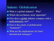 international business (drivers of globalizaion)