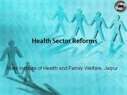Health Sector Reforms