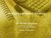 Measuring Disease Frequency