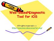 Web-based Diagnostic Tool for iOS