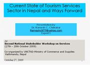 Current State of Tourism Service Sector