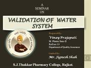 water system validation