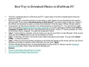 Best Way to Download Photos to iPad from PC