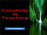 2011Sep05 - Creativity in Teaching - Teacers' Day at SSIM -