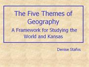 3 - Five Themes of Geography - ks