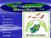 Avian Influenza Preparedness and Response in Afghanistan 2008