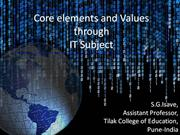 Value and Core Element in IT Subject