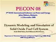 Dynamic Modeling and Simulation of SOFC